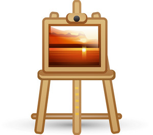 Sunset Painting On Easel Lite Art Icon