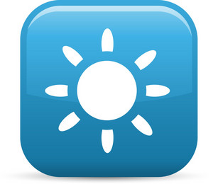 Sunshine Elements Glossy Icon
