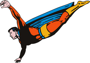 Super Hero Flying Retro