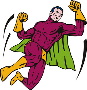Super Hero Jumping Punching