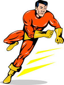 Super Hero Running Retro