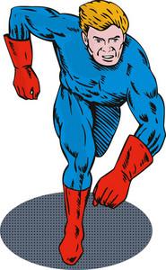 Super Hero Running Retro