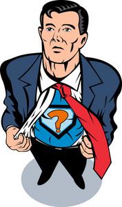 Super Hero Taking Off Suit