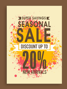 Super Savings Seasonal Sale poster