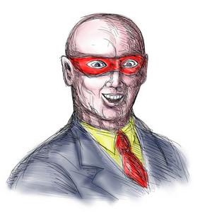 Superhero Baldy Mask