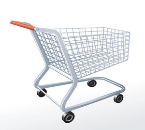 Supermarket Cart. Vector.
