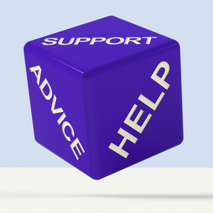 Support Advice Help Dice Representing Questions And Answers