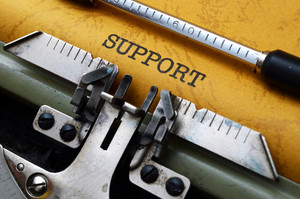 Support On Typewriter