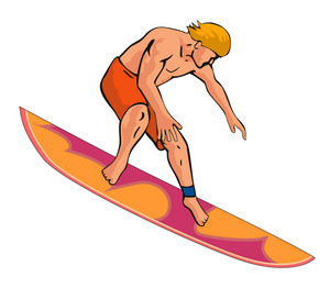 Surfer Retro