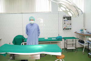 Surgeon in surgery room