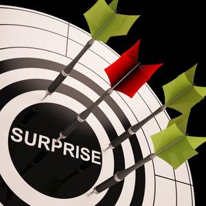 Surprise On Dartboard Shows Aimed Astonishment