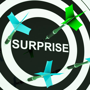 Surprise On Dartboard Shows Shocked Target