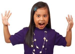 Surprised And Happy School Kid
