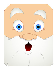 Surprised Cartoon Santa Face