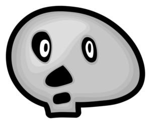 Surprised Halloween Skull