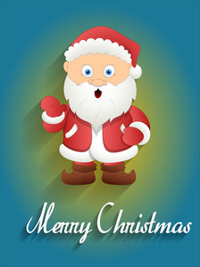 Surprised Santa Claus Christmas Greeting