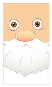 Surprised Santa Claus Face Expression