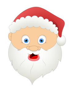 Surprised Santa Face Expression