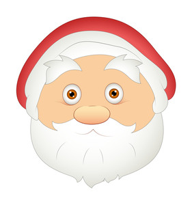 Surprised Santa Face