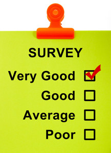 Survey On Clipboard Shows Very Good