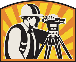 Surveyor Engineer Theodolite Total Station Retro