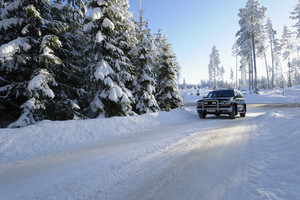 suv, 4x4 driving in snowy winter landscape