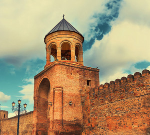 Svetitskhoveli Cathedral belfry in Mtskheta