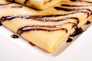 Sweet Chocolate Cream Crepe