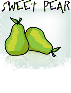 Sweet Pear. Vector Illustration