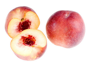Sweet Ripe Nectarine Isolated