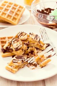 Sweet Waffles And Chocolate