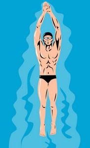 Swimmer Streamline Retro