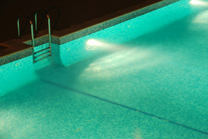 Swimming Pool With Stair (night)