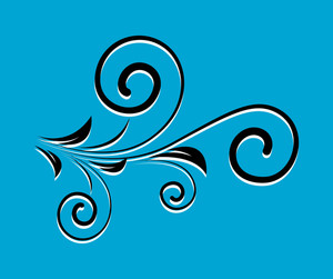 Swirl Black Shape Flourish Design
