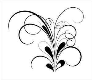 Swirl Black Shape