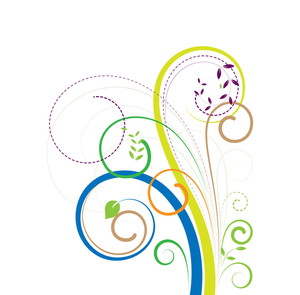 Swirl Colorful Decorative Elements