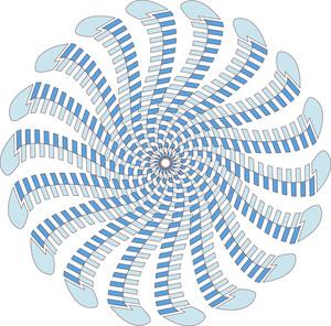 Swirl Floral Circle