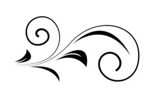 Swirl Floral Design Element