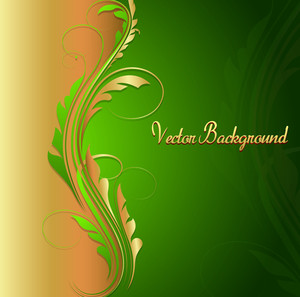 Swirl Floral Holiday Background