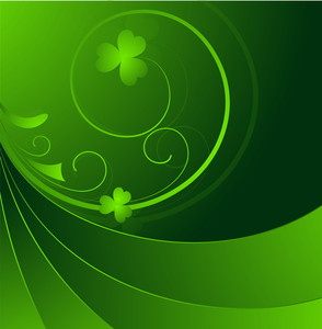 Swirl Floral Patrick's Day Graphic