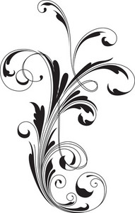 Swirl Floral Vector Element