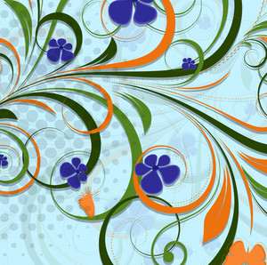 Swirl Flourish Backdrop