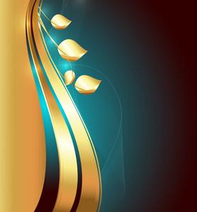 Swirl Golden Background