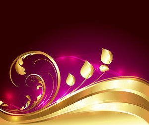 Swirl Golden Flourish Background
