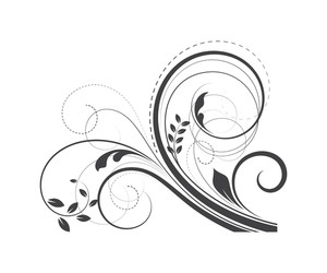 Swirl Ornate Retro Design