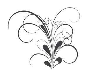 Swirl Retro Floral