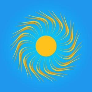 Swirl Sun Design
