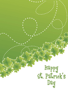 Swirl With Shamrock Pattern Card