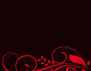 Swirly Shapes On Black Background