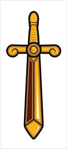 Sword Vector Mascot